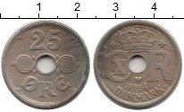Изображение Монеты Дания 25 эре 1924 Медно-никель XF Кристиан X