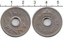 Изображение Монеты Фиджи 1 пенни 1965 Медно-никель XF Протекторат  Британи