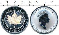 Изображение Монеты Канада 5 долларов 2001 Серебро Proof