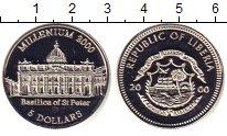 Изображение Монеты Либерия 5 долларов 2000 Медно-никель Proof Милленниум.  Базилик