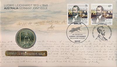 Изображение Подарочные монеты Австралия и Океания Австралия Л,Лейхгардт 2013 Латунь Proof