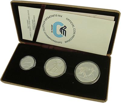 Изображение Подарочные монеты Греция Чемпионат Европы по легкой атлетике 1981 Серебро Proof