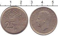 Изображение Дешевые монеты Испания 25 песет 1980 Медно-никель XF