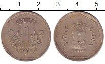 Изображение Дешевые монеты Индия 1 рупия 1987 Медно-никель XF