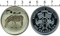 Изображение Мелочь Африка Того 1000 франков 2011 Серебро Proof