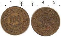 Изображение Дешевые монеты Африка Тунис 100 миллим 1960 Латунь XF