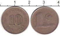 Изображение Дешевые монеты Малайзия 10 сен 1982 Медно-никель XF