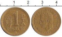 Изображение Дешевые монеты Испания 1 песета 1980  VF- Хуан Карлос Первый К