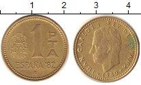 Изображение Дешевые монеты Испания 1 песета 1980 Бронза XF Хуан Карлос Первый К