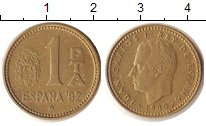 Изображение Дешевые монеты Испания 1 песета 1980 Бронза VF+ Хуан Карлос Король И