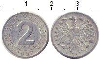 Изображение Дешевые монеты Европа Австрия 2 гроша 1957 Алюминий VF+