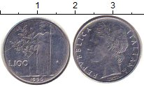 Изображение Дешевые монеты Италия 100 лир 1990 нержавеющая сталь VF