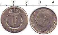 Изображение Дешевые монеты Люксембург 1 франк 1984 Медно-никель XF