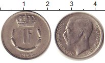 Изображение Дешевые монеты Люксембург 1 франк 1968 Медно-никель XF