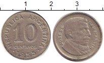 Изображение Дешевые монеты Аргентина 10 сентаво 1955 Медно-никель XF