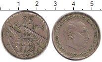 Изображение Дешевые монеты Испания 25 песет 1961 Медно-никель XF-