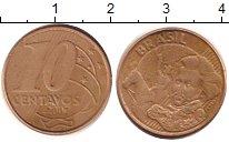 Изображение Дешевые монеты Южная Америка Бразилия 10 сентаво 2007 Латунь XF