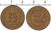 Изображение Дешевые монеты Тунис 20 миллим 1983 Латунь XF-