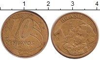 Изображение Дешевые монеты Бразилия 10 сентаво 2004 Медь XF