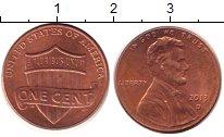 Изображение Дешевые монеты Северная Америка США 1 цент 2013 Медь XF+