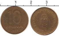 Изображение Дешевые монеты Южная Америка Аргентина 10 сентаво 2008 Латунь XF