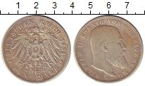 Изображение Монеты Германия Вюртемберг 5 марок 1904 Серебро XF