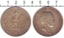 Изображение Монеты Саксония 5 марок 1914 Серебро XF Фридрих Август III