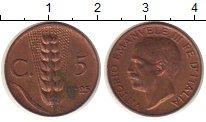 Изображение Монеты Италия 5 сентим 1925 Медь XF Виктор  Эммануил III