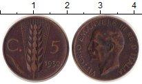 Изображение Монеты Европа Италия 5 сентим 1932 Медь XF