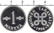 Изображение Мелочь Финляндия 1 марка 1956 Серебро Proof