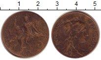 Изображение Монеты Европа Франция 5 сентим 1916 Бронза XF