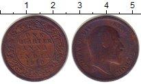 Изображение Монеты Индия 1/4 анны 1910 Бронза VF Британский  протекто