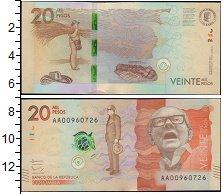 Изображение Банкноты Южная Америка Колумбия 20 песо 2015  UNC