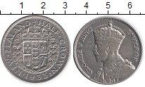 Изображение Монеты Новая Зеландия 1/2 кроны 1933 Серебро XF-