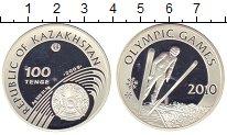 Изображение Монеты Казахстан 100 тенге 2009 Серебро Proof Зимняя олимпиада-201