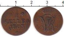 Изображение Монеты Гессен-Кассель 1 геллер 1803 Медь VF Вильгельм IX