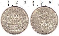 Изображение Монеты Гамбург 3 марки 1910 Серебро XF