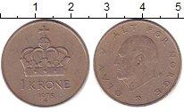 Изображение Дешевые монеты Норвегия 1 крона 1975 Медно-никель XF