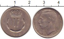 Изображение Дешевые монеты Европа Люксембург 1 франк 1973 Медно-никель XF