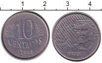 Изображение Дешевые монеты Южная Америка Бразилия 10 сентаво 1994 Алюминий XF