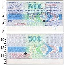Изображение Банкноты ГДР 500 марок 0  UNC