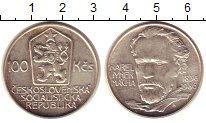 Изображение Монеты Чехословакия 100 крон 1986 Серебро UNC- Карел  Маха.