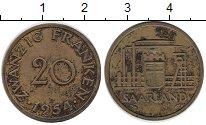 Изображение Монеты Германия Саар 20 франков 1954 Латунь VF
