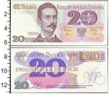 Изображение Банкноты Польша 20 злотых 1982  UNC-