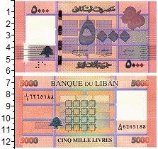 Изображение Банкноты Ливан 5000 ливр 0  UNC