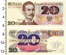 Изображение Банкноты Польша 20 злотых 1982  UNC