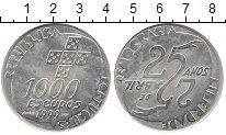 Изображение Монеты Португалия 1000 эскудо 1999 Серебро UNC 25 - летие  событий