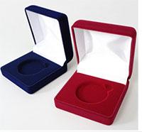 Изображение Аксессуары для монет Бархат Подарочный футляр для монеты, медали Ø 55 мм 0