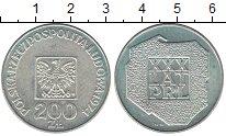 Изображение Мелочь Польша 200 злотых 1974 Серебро UNC-
