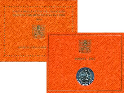 Изображение Подарочные монеты Европа Ватикан Святой год милосердия 2016 Биметалл UNC